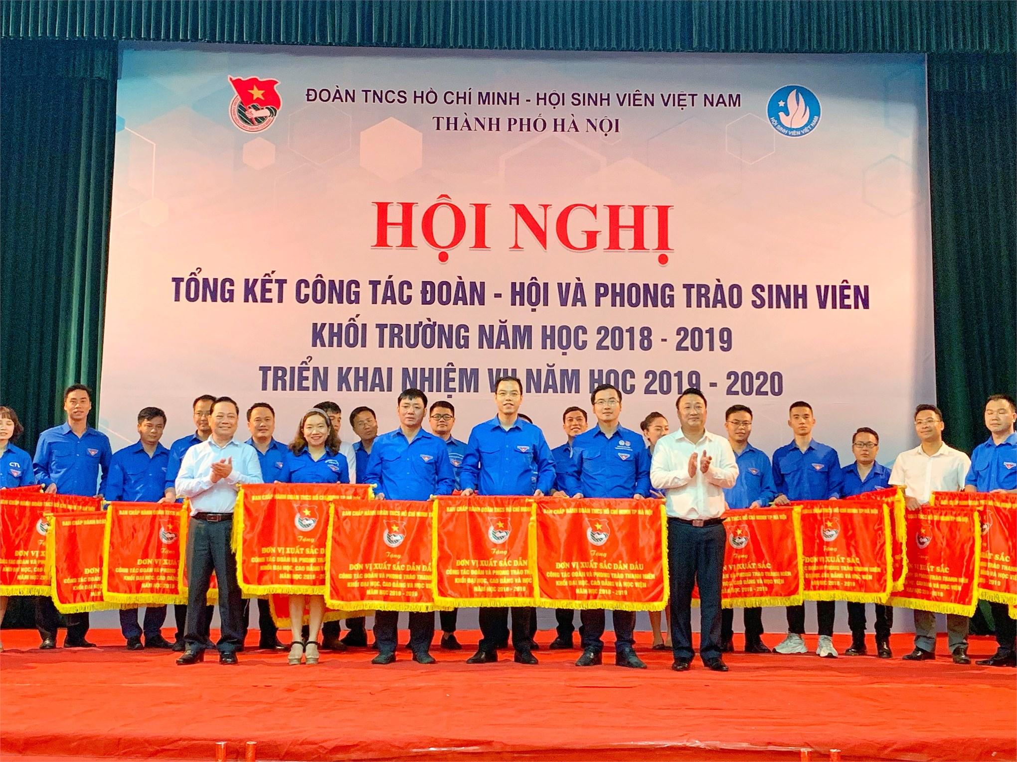 Đoàn Thanh niên – Hội Sinh viên trường ĐH Công nghiệp Hà Nội: Đơn vị xuất sắc dẫn đầu năm học 2018 – 2019