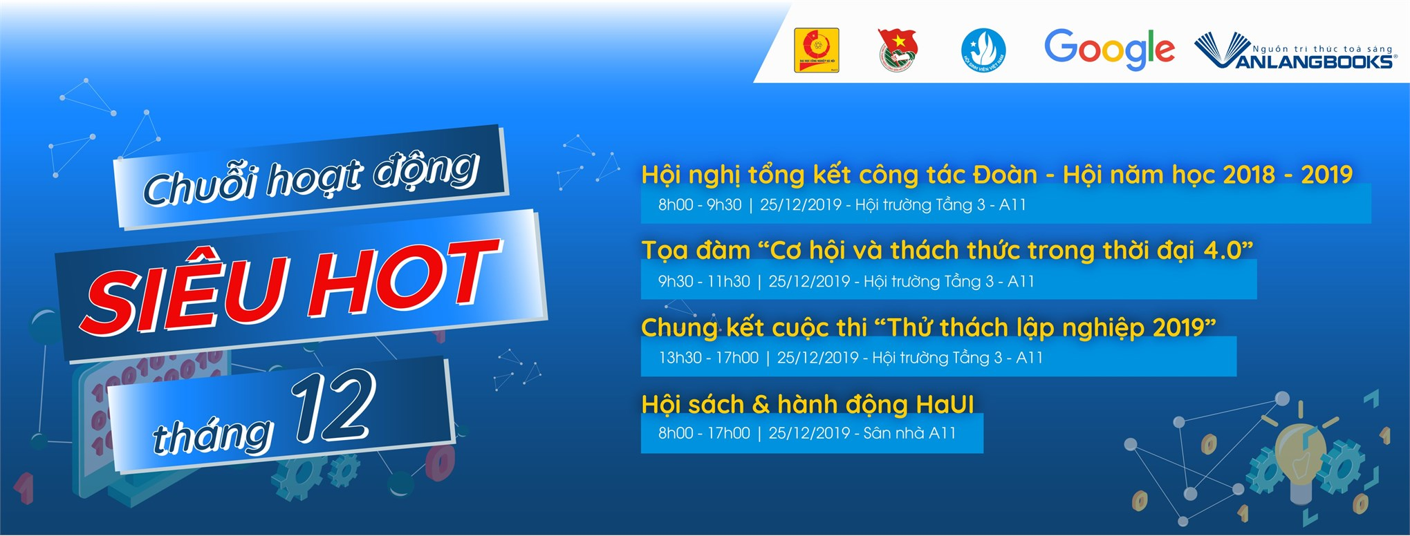 Thông báo tổ chức Hội nghị tổng kết năm học 2018 - 2019 và các hoạt động chào mừng kỷ niệm 70 năm ngày truyền thống HSSV và Hội Sinh viên Việt Nam