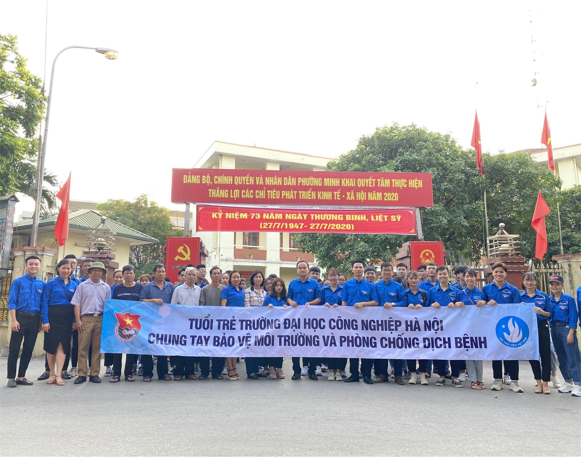 Tuổi trẻ Đại học Công nghiệp Hà Nội ra quân Chiến dịch tình nguyện hè năm 2020
