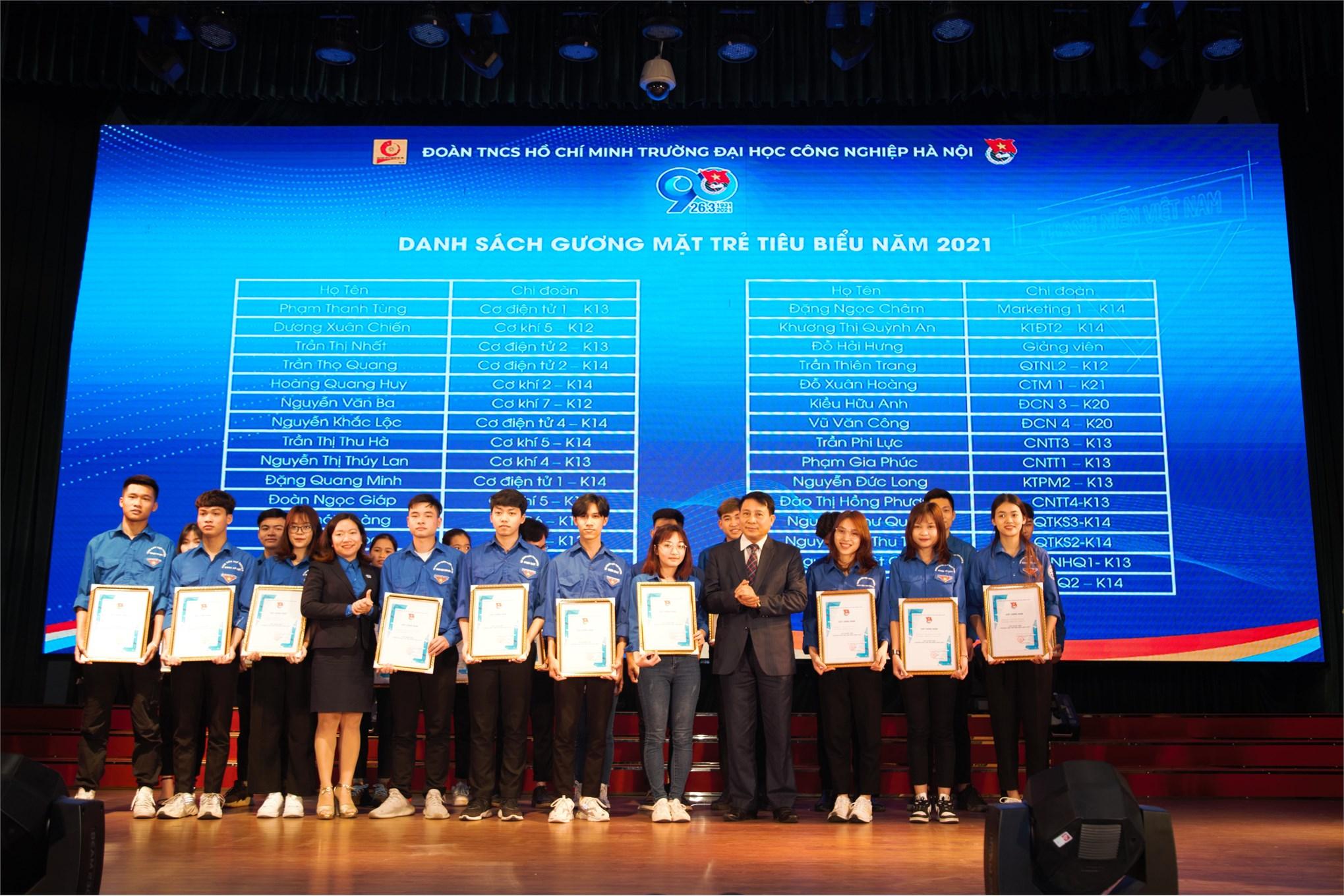 Đoàn Trường ĐHCNHN tổ chức trọng thể Lễ kỷ niệm 90 năm Ngày thành lập Đoàn TNCS Hồ Chí Minh (26/3/1931 - 26/3/2021)