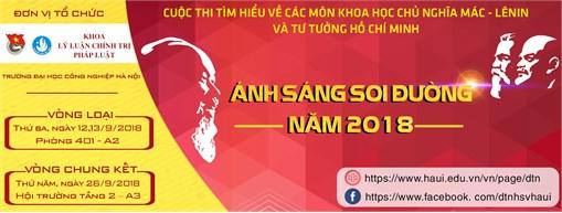 """Thông báo tổ chức cuộc thi Tìm hiểu các môn khoa học Mác - Lênin và tư tưởng Hồ Chí Minh """"Ánh sáng soi đường"""" năm 2018"""