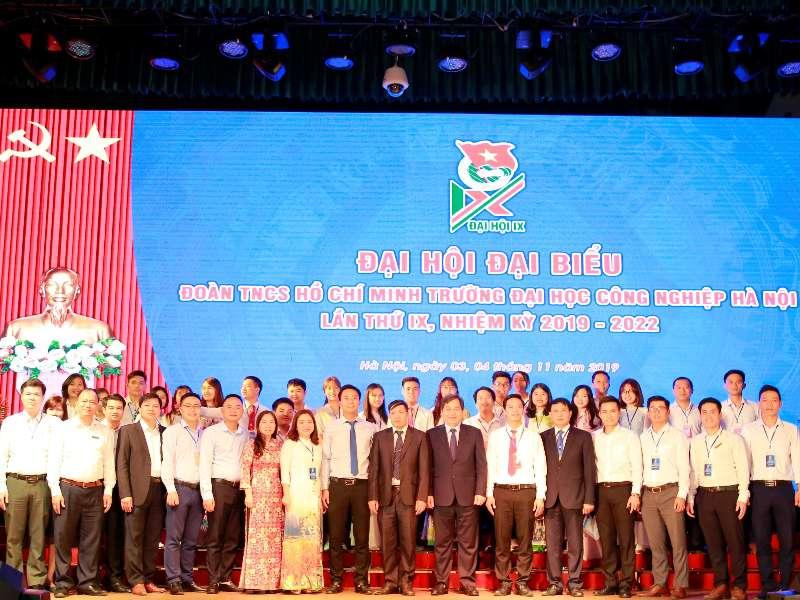 Đại hội Đại biểu Đoàn TNCS Hồ Chí Minh trường Đại học Công nghiệp Hà Nội lần thứ IX, nhiệm kỳ 2019 – 2022 thành công tốt đẹp